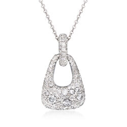 "Kwiat ""Madison Avenue"" .95 ct. t.w. Diamond Necklace in 18kt White Gold, , default"