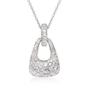 "Kwiat ""Madison Avenue"" .95 ct. t.w. Diamond Necklace in 18kt White Gold. 18"", , default"