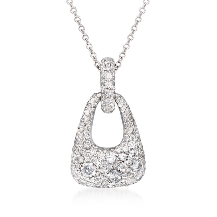"""Kwiat """"Madison Avenue"""" .95 ct. t.w. Diamond Necklace in 18kt White Gold. 18"""", , default"""