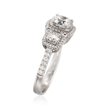 Simon G. .62 ct. t.w. Diamond Engagement Ring Setting in 18kt White Gold. Size 7