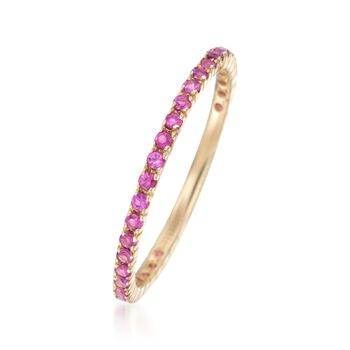 .33 ct. t.w. Ruby Eternity Band in 14kt Yellow Gold, , default