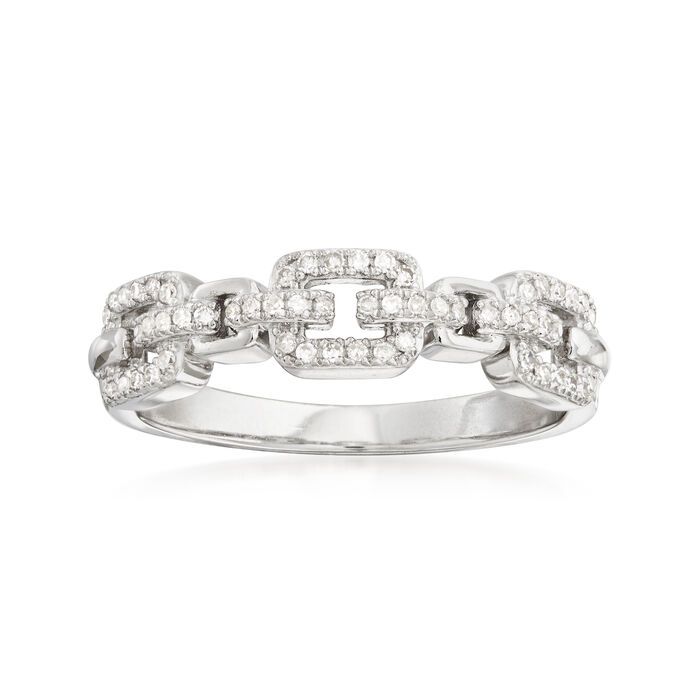 .15 ct. t.w. Diamond Link Ring in Sterling Silver
