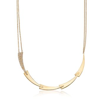 ".27 ct. t.w. Diamond Geometric Necklace in 14kt Yellow Gold. 18"", , default"