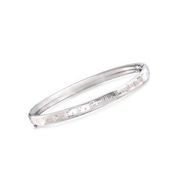 """Child's Sterling Silver Alphabet Bangle Bracelet. 5.25"""", , default"""