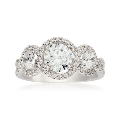 Gabriel Designs .80 ct. t.w. Diamond Engagement Ring Setting in 14kt White Gold, , default