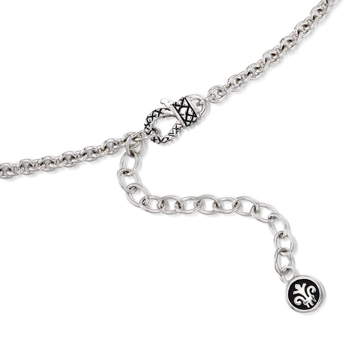 Andrea Candela 8mm Cultured Pearl Necklace in Sterling Silver and 18kt Gold