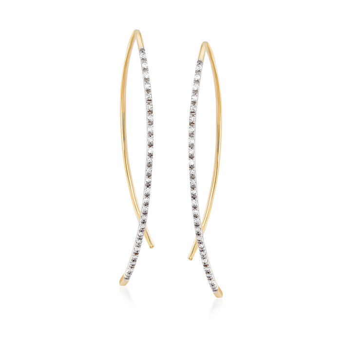 .15 ct. t.w. Diamond Linear Threader Earrings in 14kt Yellow Gold , , default