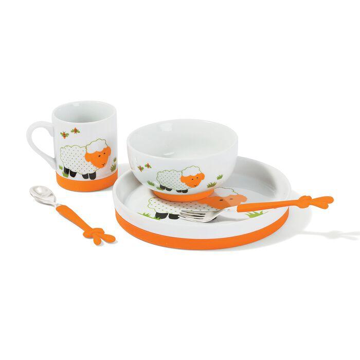 "Belleek Pottery ""Little Sheep"" Child's 5-pc. Porcelain Dining Set, , default"