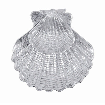 "Mariposa ""Seaside"" Scallop Shell 2-Piece Chip and Dip Set"