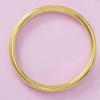 "Italian Andiamo 8mm 14kt Yellow Gold Bangle Bracelet. 7.5"", , default"