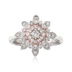 .50 ct. t.w. Diamond Flower Ring in 14kt Two-Tone Gold, , default