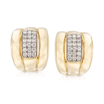 .90 ct. t.w. Diamond Center Earrings in 14kt Yellow Gold