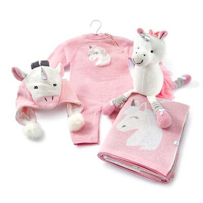 Elegant Baby Pink Unicorn Baby Gift Bundle - 0-3 Months, , default