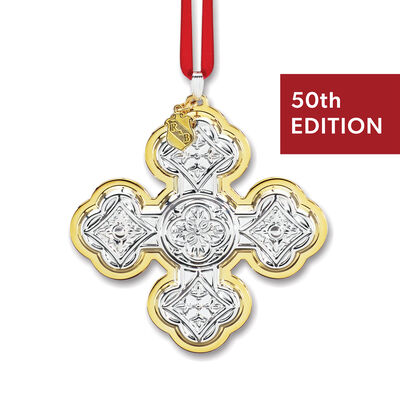 Reed & Barton 2020 Annual Sterling Silver Christmas Cross Ornament - 50th Edition