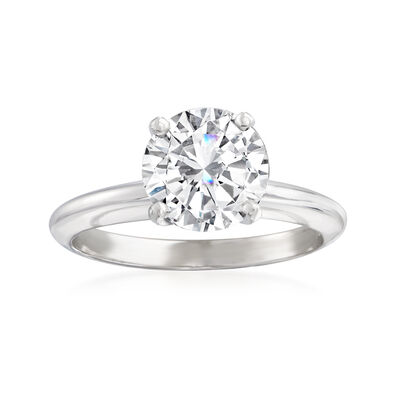 1.62 Carat Diamond Solitaire Ring in 14kt White Gold