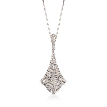 ".33 ct. t.w. Diamond Pendant Necklace in Sterling Silver. 18"", , default"
