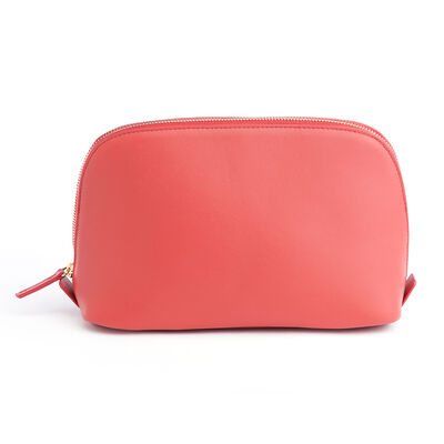 Royce Red Leather Cosmetic Bag, , default