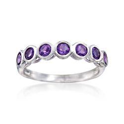 .80 ct. t.w. Bezel-Set Amethyst Ring in Sterling Silver, , default