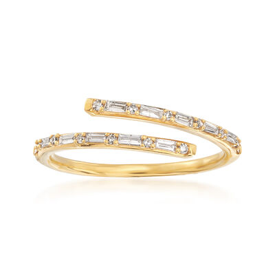 .23 ct. t.w. Diamond Bypass Ring in 14kt Yellow Gold, , default