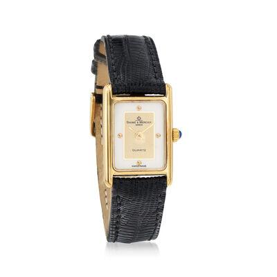 C. 1990 Vintage Baume & Mercier Women's 16mm 14kt Yellow Gold Watch, , default