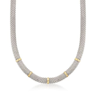 "Phillip Gavriel ""Popcorn"" Sterling Silver and 18kt Gold Necklace, , default"