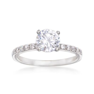 Simon G. .23 ct. t.w. Diamond Engagement Ring Setting in 18kt White Gold, , default