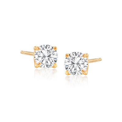 .50 ct. t.w. Diamond Stud Earrings in 14kt Yellow Gold