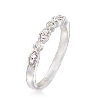 Gabriel Designs .11 ct. t.w. Diamond Wedding Ring in 14kt White Gold, , default