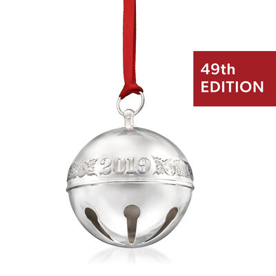 Wallace 2019 Annual Silver Plate Sleigh Bell Ornament - 49th Edition, , default