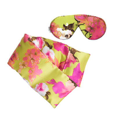 Kimono Silk Hot/Cold Pack and Eye Mask Set, , default