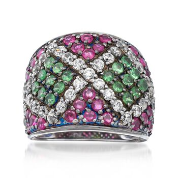 4.70 ct. t.w. Multi-Stone Ring in Sterling Silver, , default