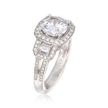 Simon G. .86 ct. t.w. Diamond Engagement Ring Setting in 18kt White Gold, , default