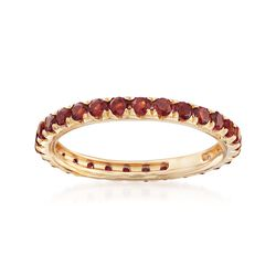 1.10 ct. t.w. Garnet Eternity Band in 14kt Yellow Gold, , default