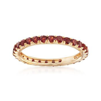 1.20 ct. t.w. Garnet Eternity Band in 14kt Yellow Gold, , default