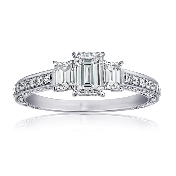 1.50 ct. t.w. Diamond Three-Stone Ring in Platinum, , default