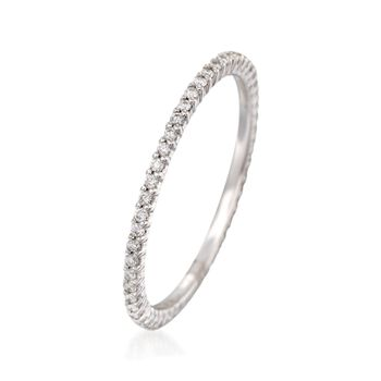 .25 ct. t.w. Diamond Eternity Band in 14kt White Gold. Size 8