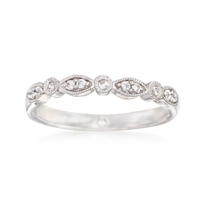 Gabriel Designs .11 ct. t.w. Diamond Wedding Ring in 14kt White Gold, , default