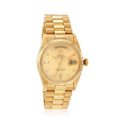 Pre-Owned Rolex Day-Date Men's 36mm Automatic 18kt Yellow Gold Watch