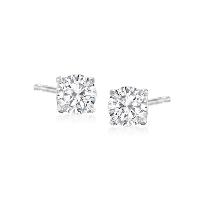 .50 ct. t.w. Diamond Stud Earrings in 14kt White Gold