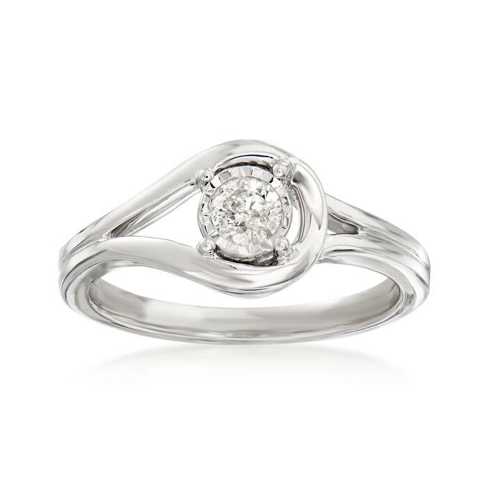 .25 Carat Diamond Loop Ring in Sterling Silver