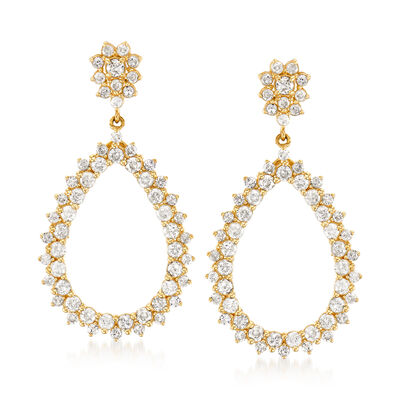 1.50 ct. t.w. Diamond Open-Teardrop Earrings in 14kt Yellow Gold, , default