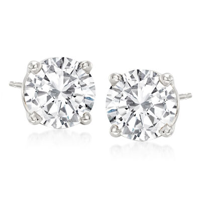 2.75 ct. t.w. Diamond Stud Earrings in Platinum