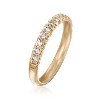 Henri Daussi .47 ct. t.w. Diamond Wedding Ring in 14kt Yellow Gold, , default