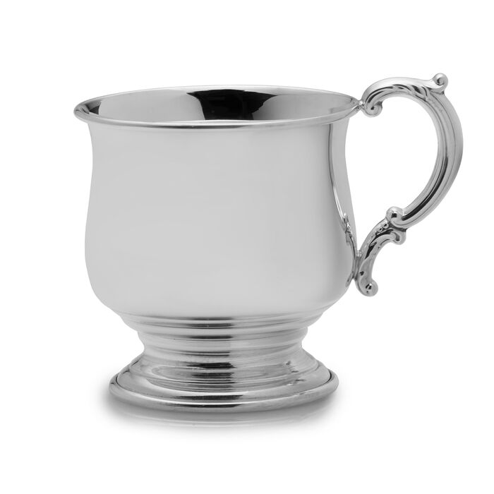 Empire Sterling Silver Pedestal Baby Cup, , default