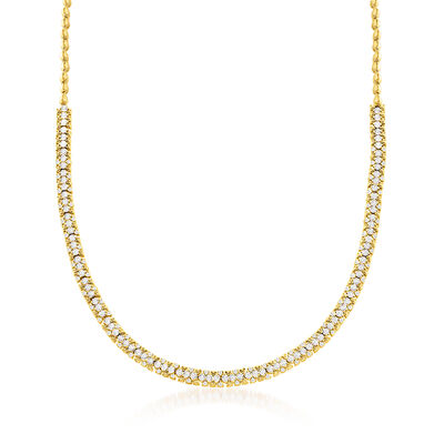 2.00 ct. t.w. Diamond Bead Necklace in 18kt Gold Over Sterling