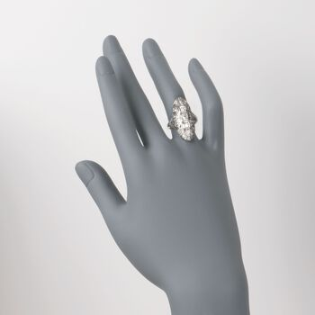 C. 1950 Vintage .45 ct. t.w. Engraved Diamond Dinner Ring in 14kt White Gold. Size 6, , default