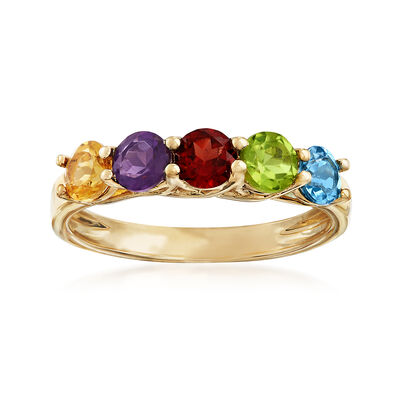 1.40 ct. t.w. Multi-Stone Ring in 14kt Yellow Gold, , default