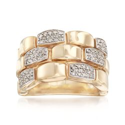 .44 ct. t.w. Diamond Link Ring in 14kt Yellow Gold. Size 5, , default