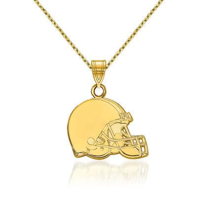 "14kt Yellow Gold NFL Cleveland Browns Pendant Necklace. 18"", , default"