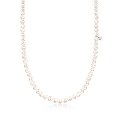 Mikimoto 6-6.5mm 'A' Akoya Pearl Necklace in 18kt White Gold, , default